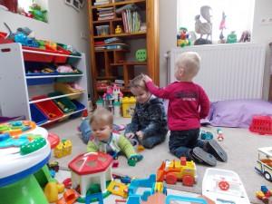 Gezellig samen spelen in de speelhoek